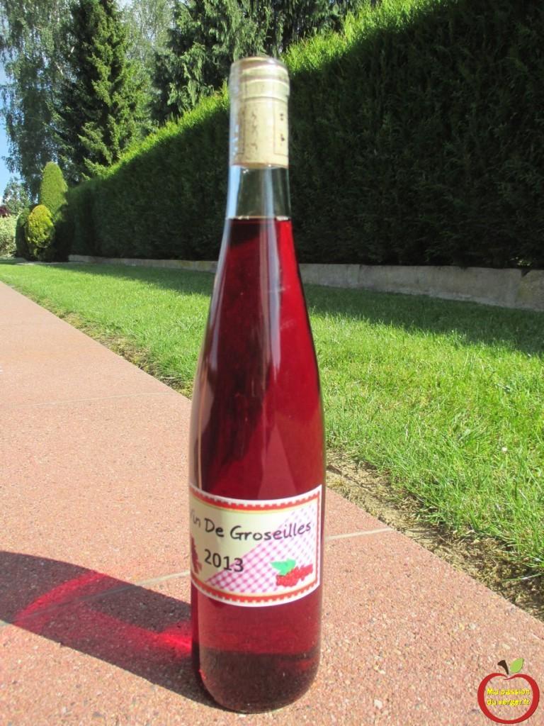 Belle couleur du vin de groseille