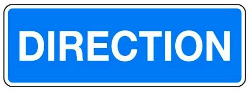 Panneau-PVC-Direction-PG19P