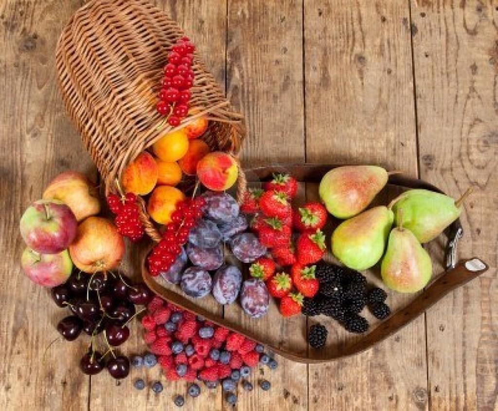 récolte des fruits du verger pendant tout l'été.