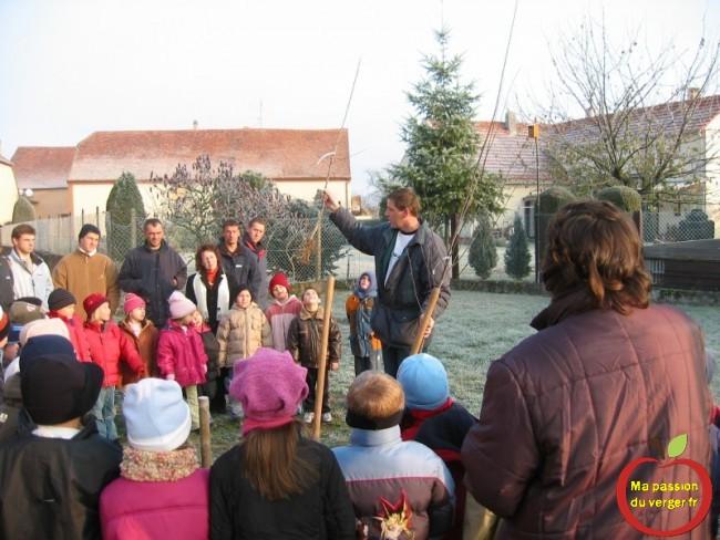 formation pour les élèves à l'arboriculture