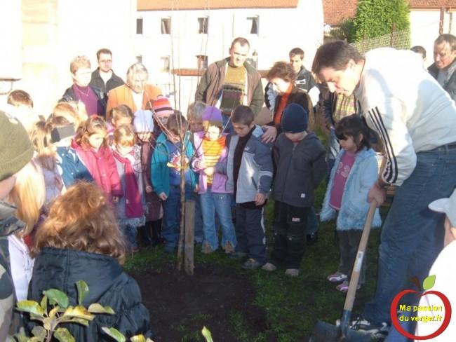 formation de plantation fruitier à l'école