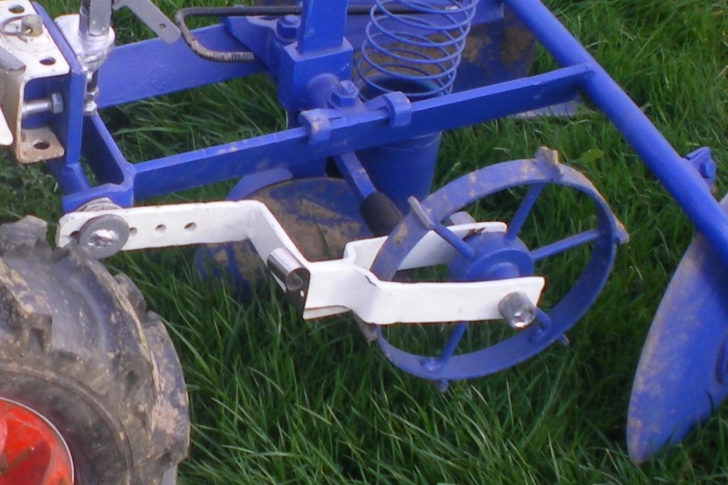 roue à cliquet, pour donner la distance de plantation des pommes de terre