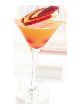 Nectar de pêches en cocktail maison