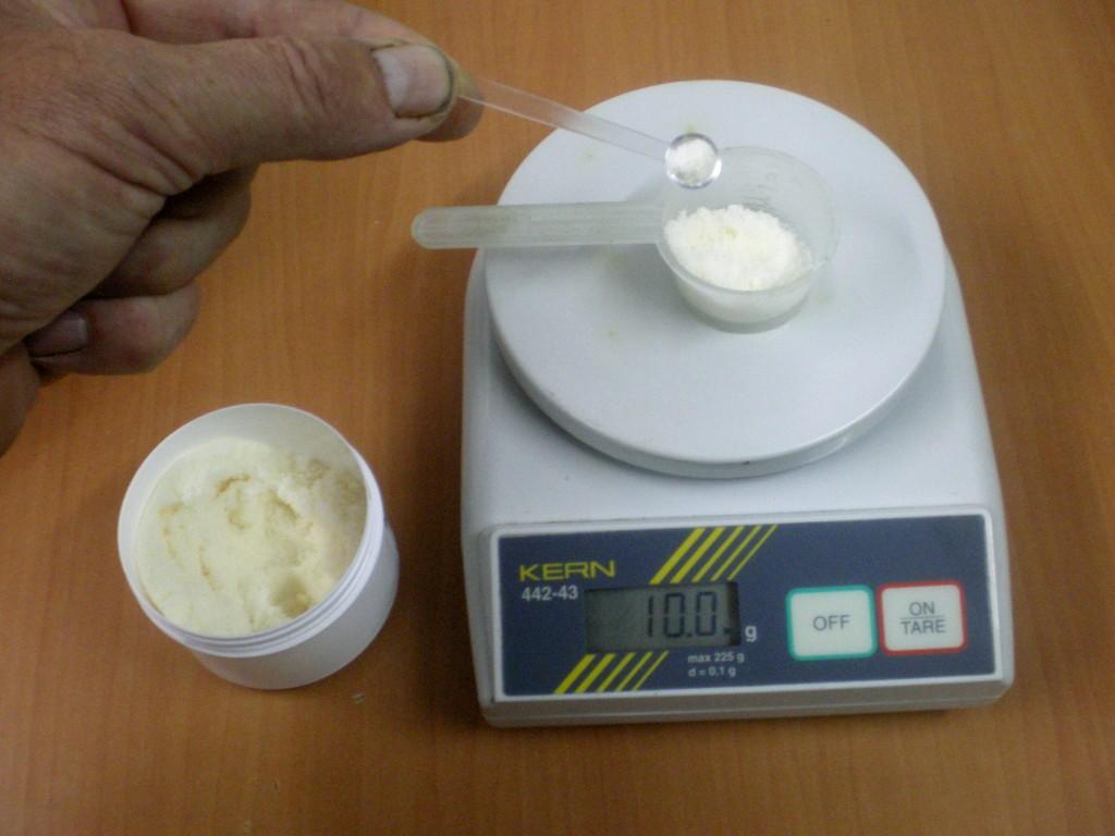 Pesage de Iodure de potassium.
