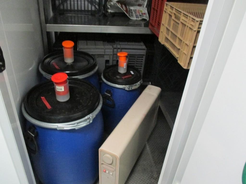 faire commencer la fermentation des poires williams