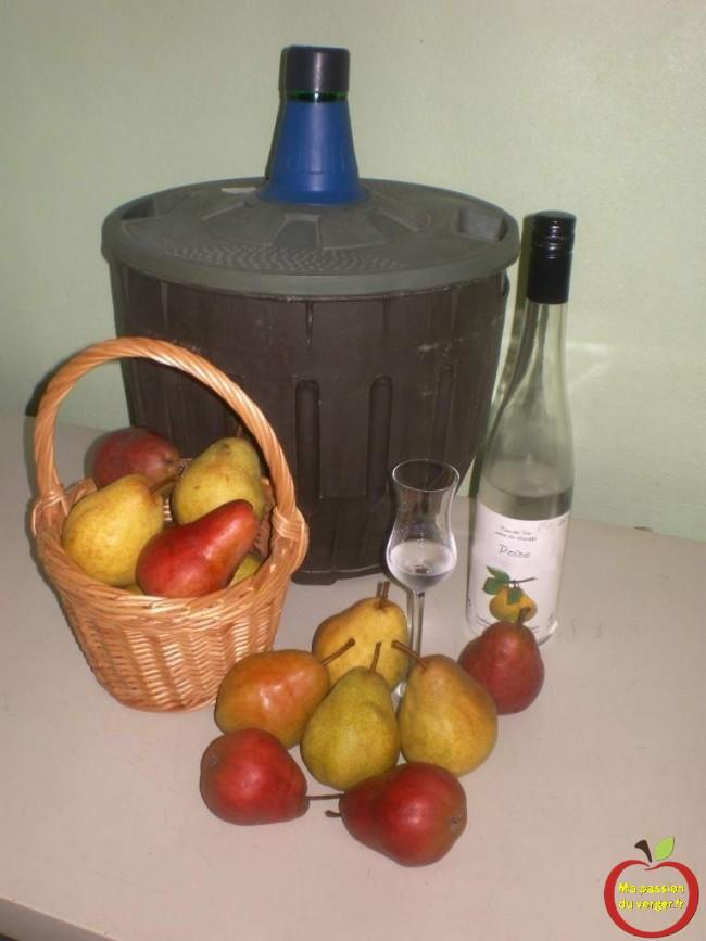 finition-affinage-eau-de-vie-williams - schnaps de poire williams- gnole de poires willams- bouteille de poire williams- regrevudnoissapamegres