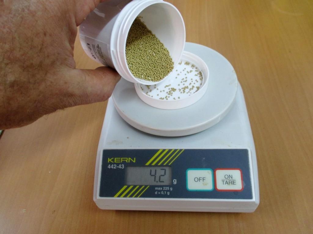 Préparation du dosage de la levure sèche suivant la température du moût et suivant votre produit.