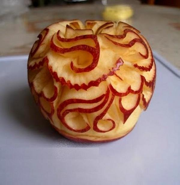 La sculpture sur pommes ma passion du verger