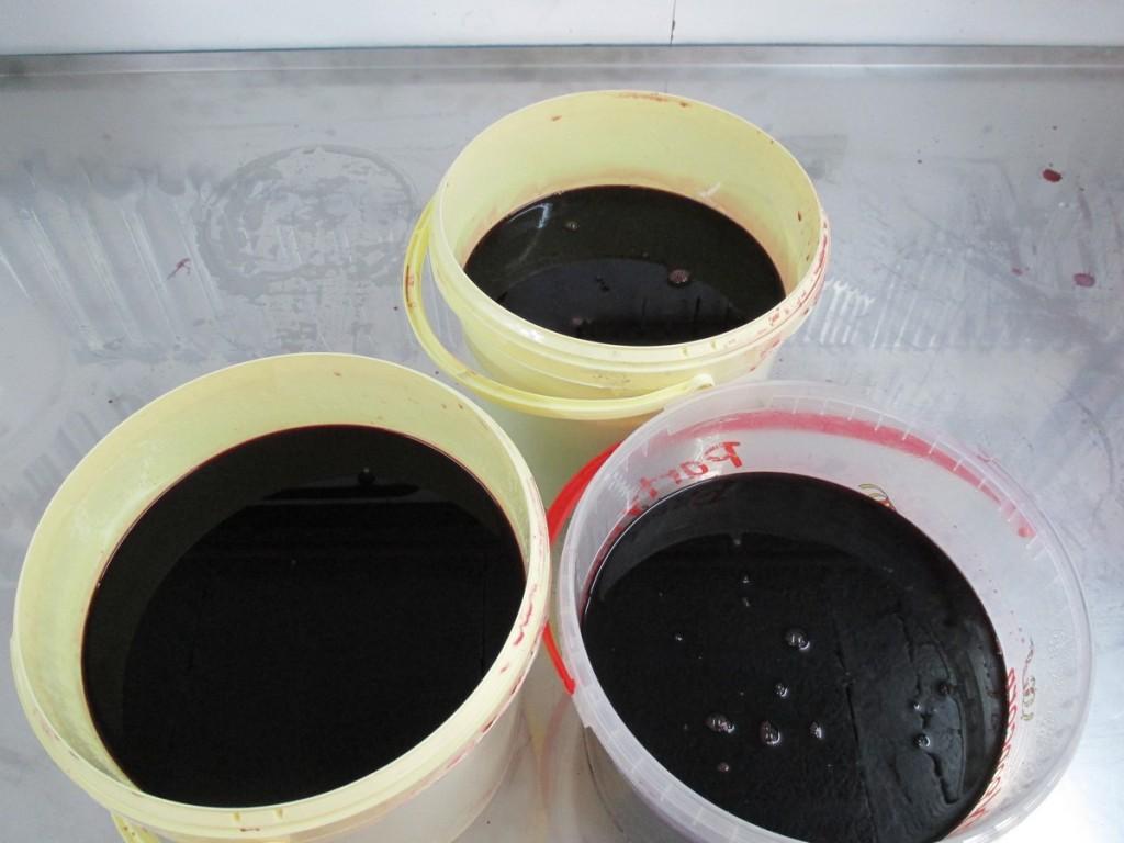 Le jus de raisin, après le filtration.