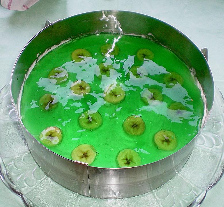 Nappage à l'aspérule odorante-philadelphia-torte-banane-waldmeister