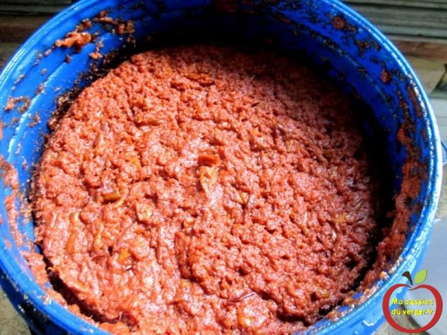 la remontée de la matière sèche, lors de la fermentation- bonne fermentation des fruits- bonne fermentation quetsche