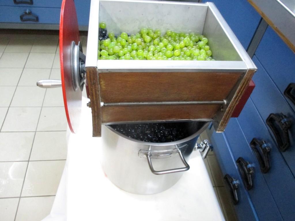 Le foulage consiste à briser ou éclater, les baies de raisin, en effectuant le moins de mal possible à la peau, en libérant le moût.