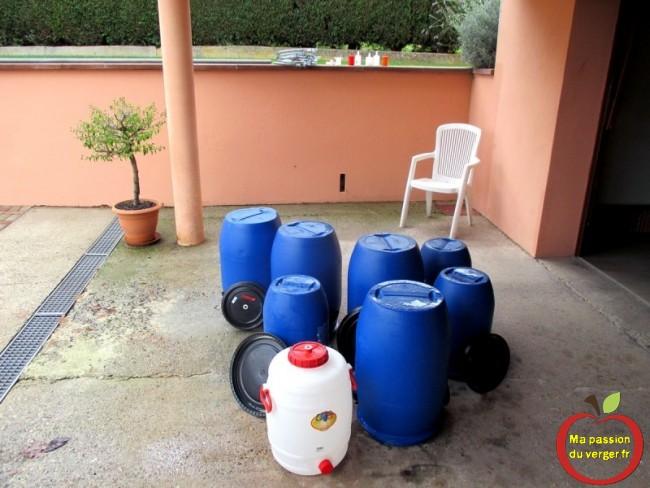 Lavage des futs de fermentation