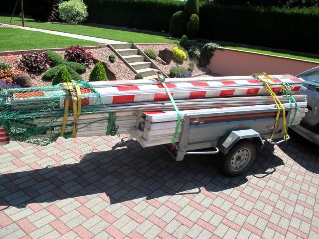 matériaux de recupération pour la construction de ma treille pour vigne