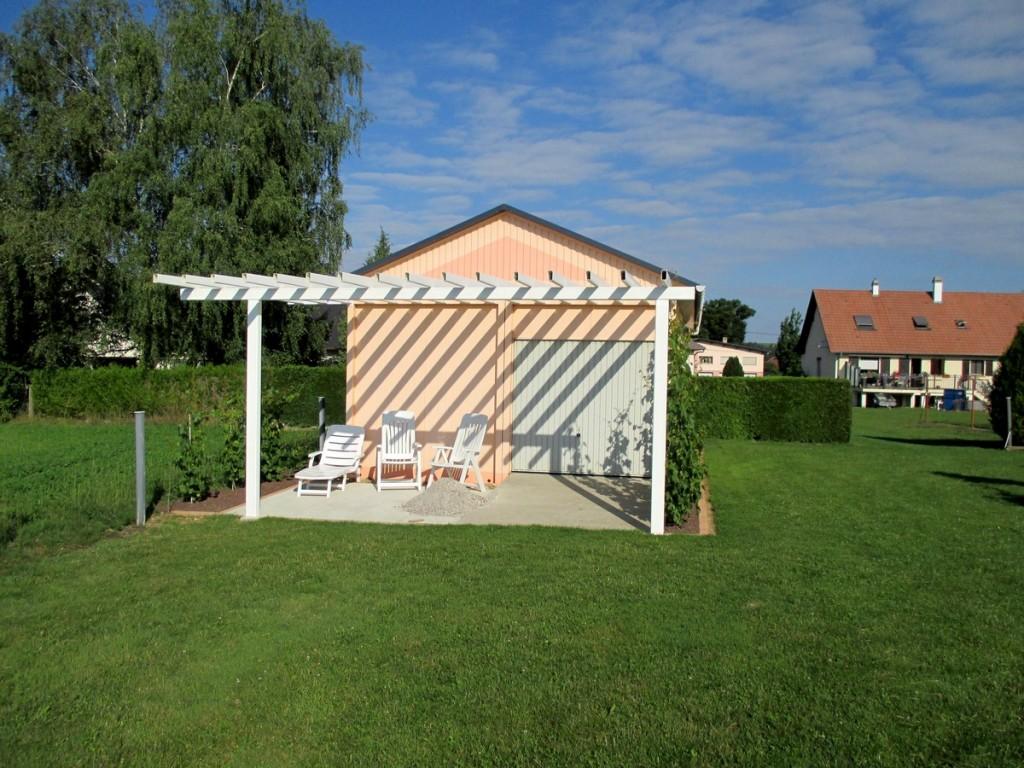 recyclage barrières de passage a niveau en fibre de verre sans entretien, pour treille ou pergola avec vigne
