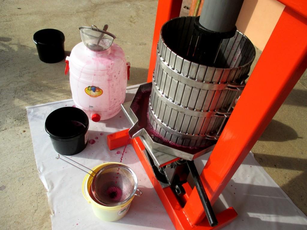 Comment faire son vin bio soi-même- fabriquer un pressoir maison inox.