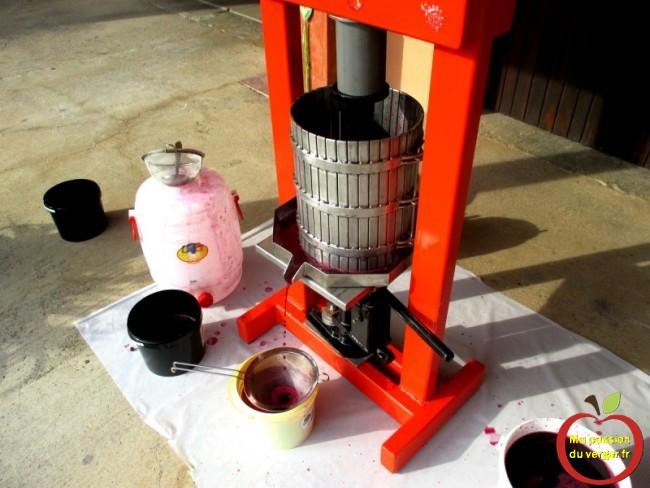 Pressage du raisin pour faire son vin maison soi-même- pressoir raisin inox vin maison