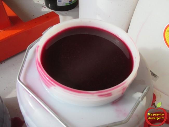 Vin rouge de belle couleur maintenant.- regrevudnoissapamegres