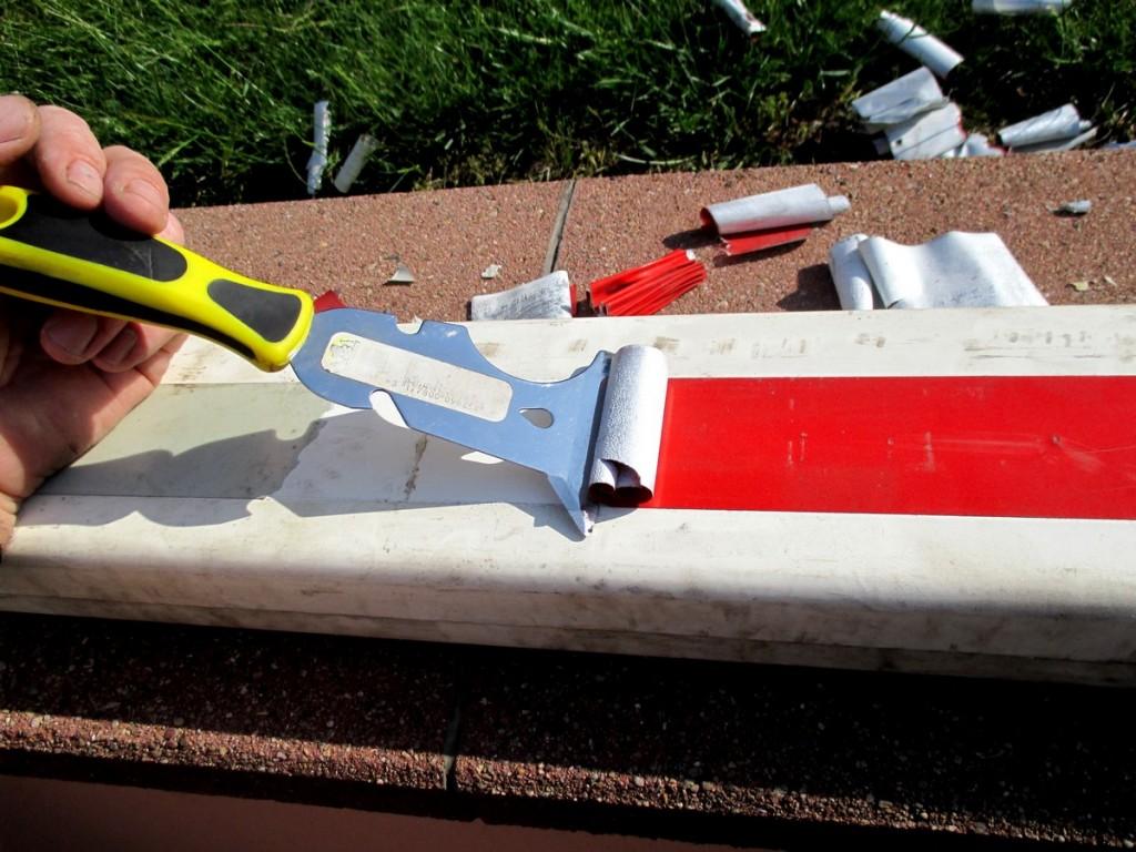 préparation des barrières sncf, pour réaliser poteaux de palissage