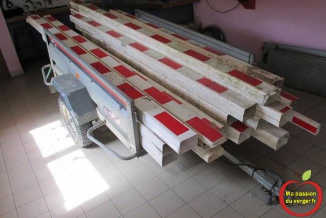 barrière sncf casse de passage a niveau recycle pour poteaux de palissage