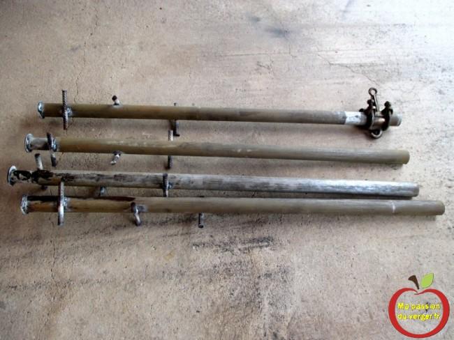 fabrication de poteaux d'ancrage pour palissage