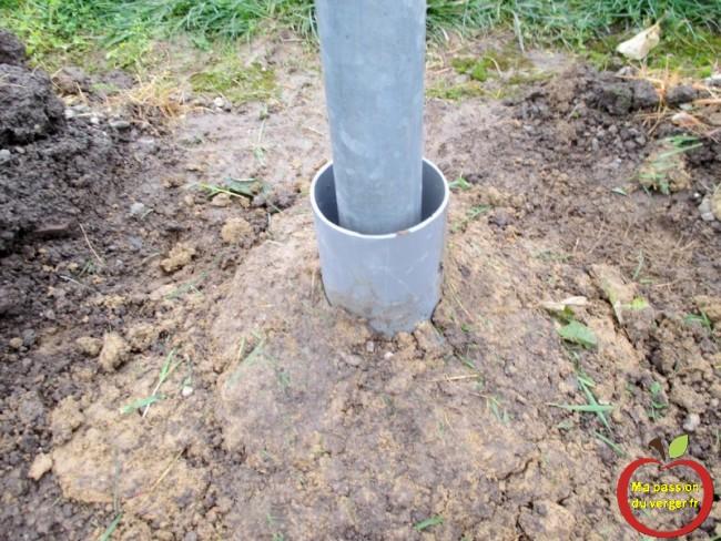 protection du poteau galvaniser contre la rouille et eviter le contact avec la terre
