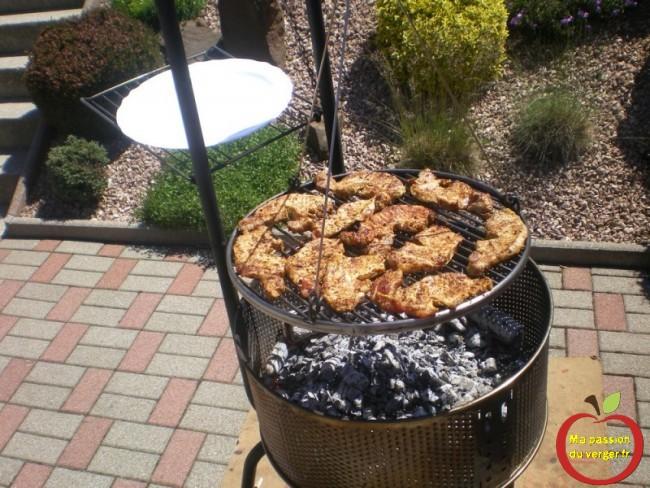 réussir une bonne cuisson au feu de bois- grille réglable- flamme barbecue- feu de bois et charbon-