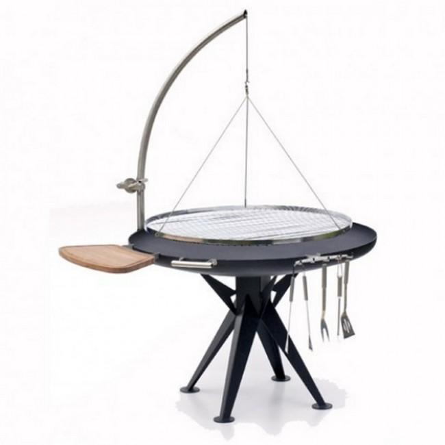 balgrill-profigriller-1200-haenger-runder-rost-edelstahl-winde sueper barbecue design en inox