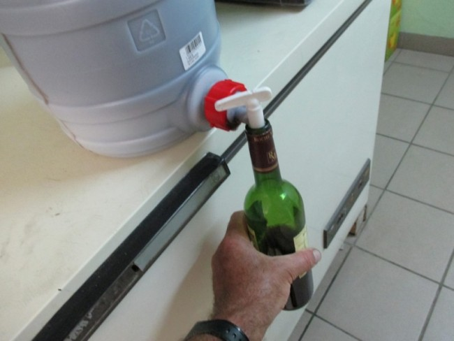 Le soutirage du vin