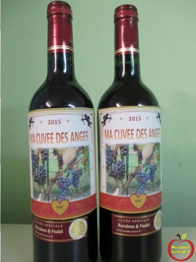 Étiquetage des bouteilles de vin maison, afin de pouvoir servir avec fierté une belle bouteille à ses invités, ou amis.