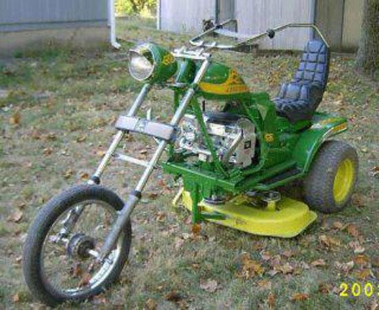 La tondeuse des motards harley
