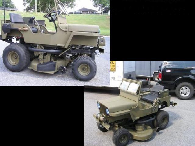 La tondeuse modèle réduit pour les militaires