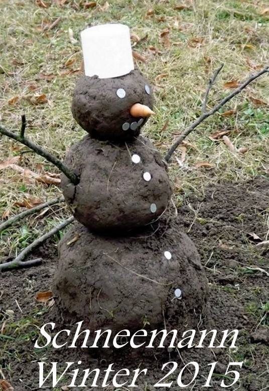 Bonhomme de neige hiver 2015