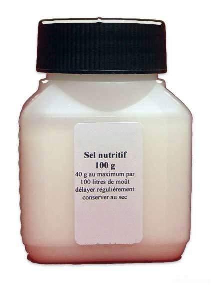 Sel nutritif pour moût de distillation