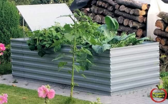 bacs pour potager en tôle - grands bac pour potager en permaculture- bac potager surélevé - bac acier pour potager en carré
