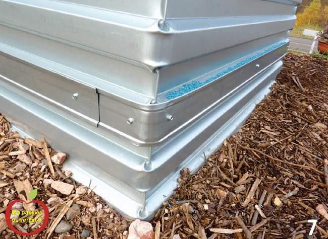 Ces 5 tôles de protection en option, pour barrage anti-limaces, escargots, campagnols, mulots, souris pour potager en carré- barrage anti-limace pour potager permaculture