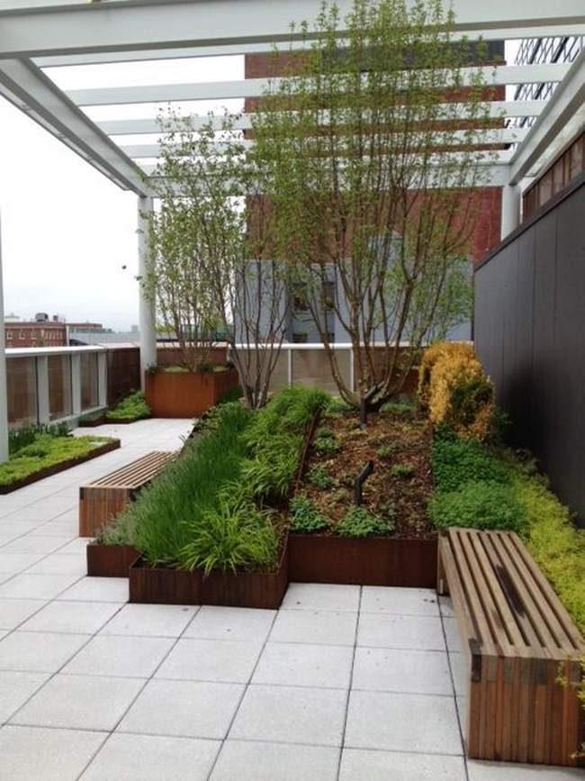 Conception potager paysagiste- création jardin design - bacs potager carré acier- bacs acier corten- bac rouillé- création potager acier corten- Modubacs
