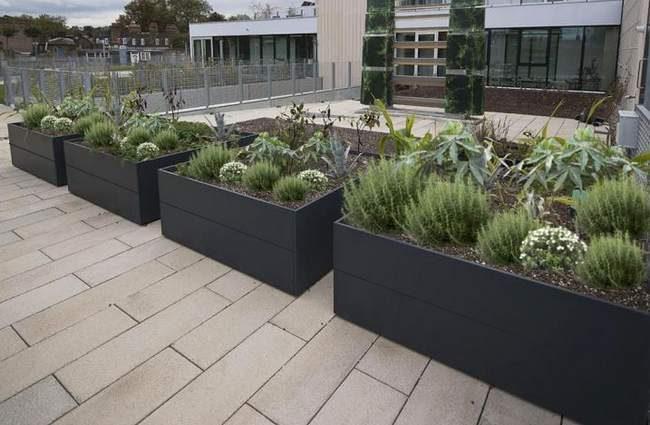 Construire Une Jardinière En Béton bacs potager et jardinières en alu et acier | ma passion du verger
